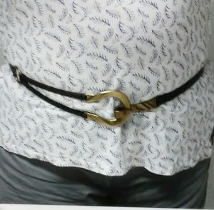 Chico's leather belt brown adjustable